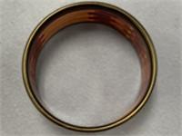 Stacked wood bangle bracelet made from exotic hard