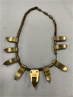 Necklace made from baleen beads and spacers with a