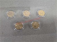 15- Presidential $1 coins currency with lockable