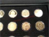 20- Presidential $1 coins currency with lockable