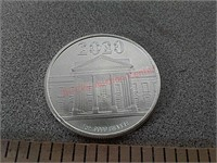 2020 President Trump 1oz .999 fine silver round