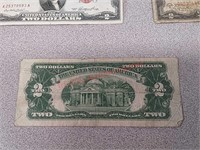 13 $2 red seal US paper currency, 2953, 1928