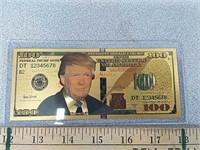 Novelty $100 Donald  Trump gold bill