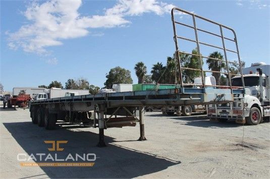 1983 Custom Flat Top Trailer Catalano Truck And Equipment Sales And Hire - Trailers for Sale