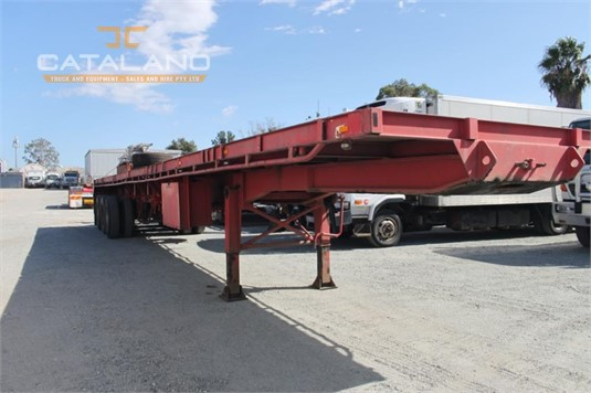 1984 Custom Flat Top Trailer Catalano Truck And Equipment Sales And Hire - Trailers for Sale