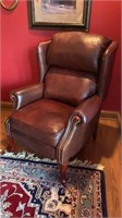 Lane Leather Reclining Wing Back Chair