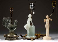 Rare Aladdin electric table lamps