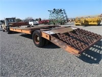 Antique Federal Tractor Truck with Low Bed Trailer