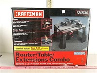 New in box Craftsman router table extension combo
