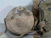 US army bag, canteens, mess kit