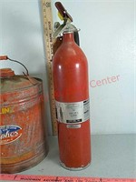 Gas can and fire extinguisher