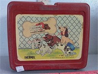 Pound puppies plastic lunch box
