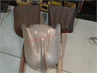 Three shovels