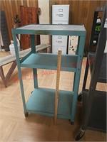Greenish blue AV cart