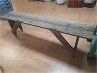 Primitive wood bench