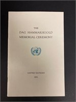 Invitation from Mr. Dag Hammarskjold to Steinbeck