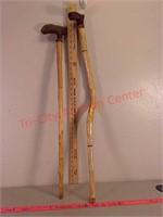 Diamond willow wood walking canes