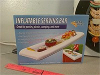 New in box inflatable serving bar, Mister