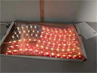 Job Lot decor items American flag rope light,