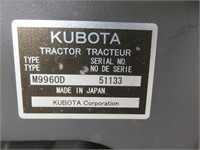Kubota M9960 Wheel Tractor