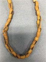 """Strand of old trade beads, approx. 12"""" long close"""