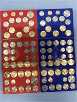 Lot of 6 complete US Mint uncirculated coin sets,