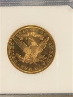 1893 Gold $10 coin  MS62 by PCI           (33)