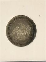 1861 Seated Liberty quarter dollar           (33)