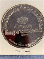1985 crown impressions coins, 1 troy ounce, .999 f