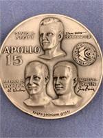 1971 Ralph Menconi silver Apollo 15 medallion, app