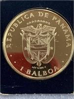 1975 Panamanian coin, .925 silver,             (33