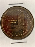 Lot of 3 coins, 2000 S Sacagawea dollar coin, 1964