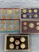 lot of 4 assorted mint proof sets, 2008 S state qu
