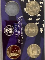 Lot of 2 2003 S US mint proof sets & 2008 missing