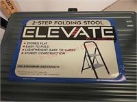 New Elevate 2-step folding stool / ladder w/