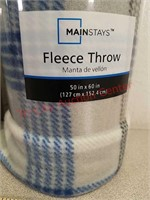 2 new fleece throw blankets