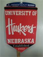 New Nebraska Huskers felt Banner flag