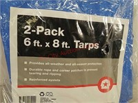 New 2 pack 8 x 10 tarps