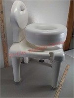 Shower seat bench and toilet riser