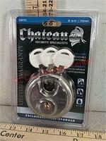 New Chateau maximum security disk padlock lock
