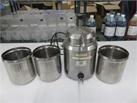 Server FSP Pump Topping Warmer w/(3) Inserts