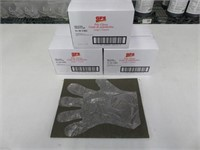 (3) GFS Large 1,000 Count Poly Gloves