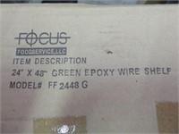 "(4) Focus FF2448G 24""x48"" Green Coated Shelves"