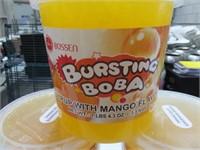 (5) Bossen Bursting Boba 7lb Syrup w/Mango Flavor