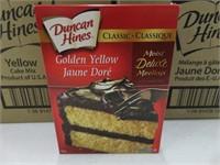 (24) Duncan Hines 432g Golden Yellow Cake Mix