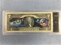 Series 2013 Apollo 11 $2 note authenticated uncirc