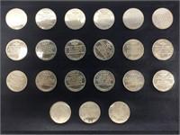 Danbury Mint Man in Space sterling proof medallion