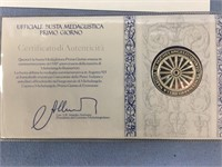 Franklin Mint issue First Day cover stamps and ste