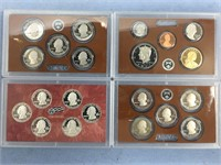 4 Uncirculated proof coin sets, 2009 S state quart