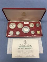 The Franklin Mint Commonwealth of the Bahamas silv